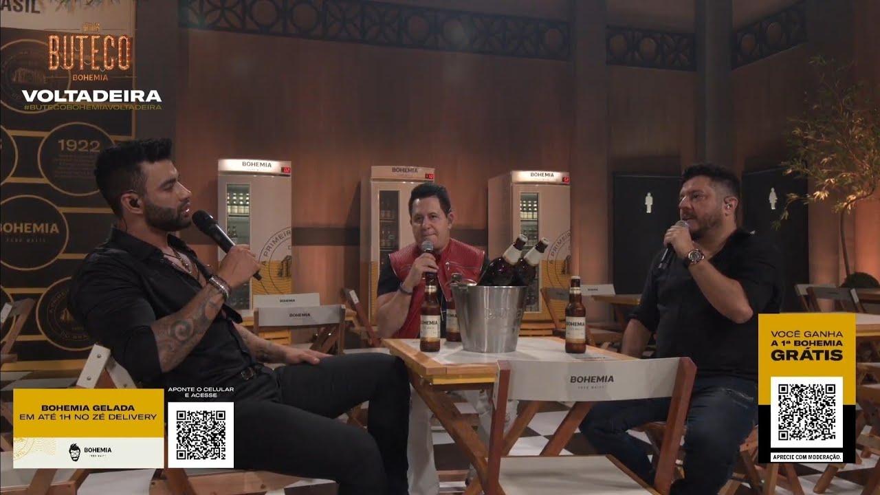 Bruno e Marrone em live com Gusttavo Lima (Foto: Reprodução/Youtube)