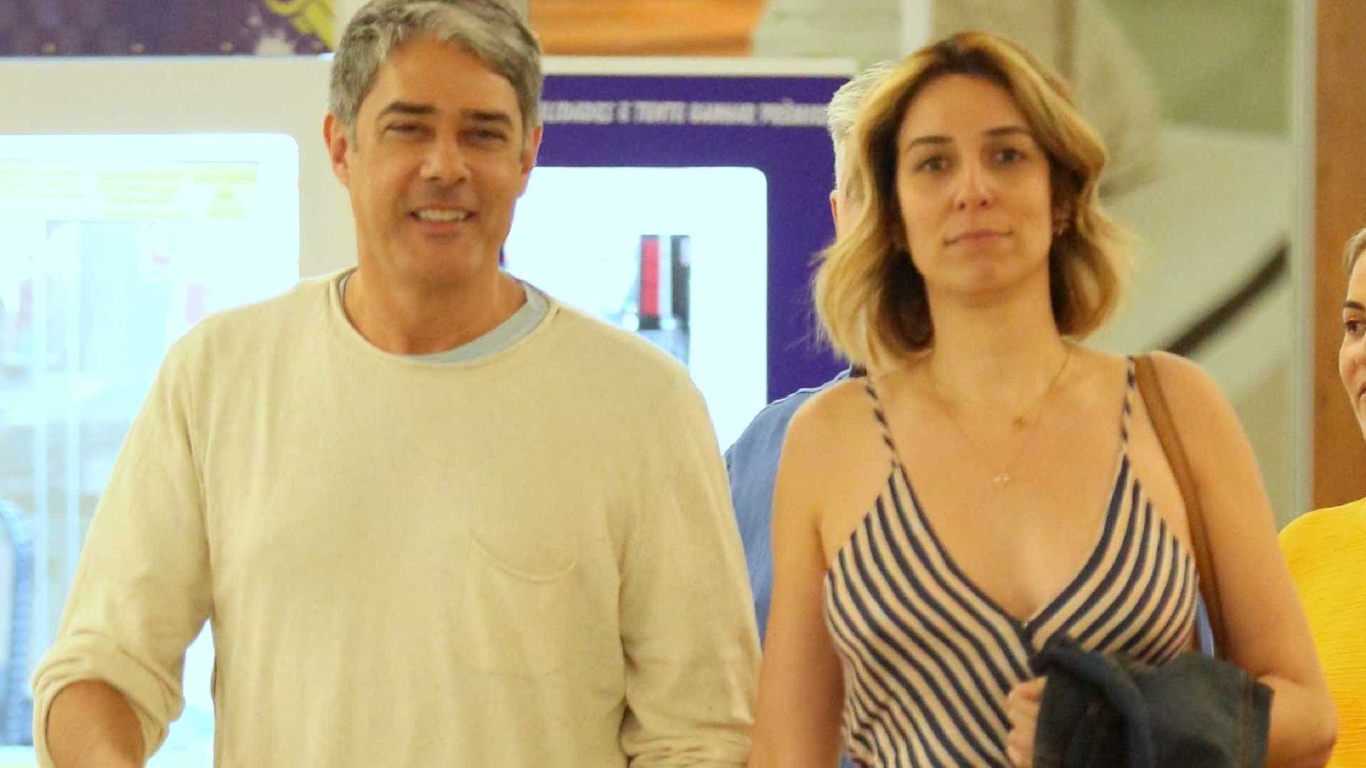 Natasha Dantas e William Bonner (Foto: Divulgação)