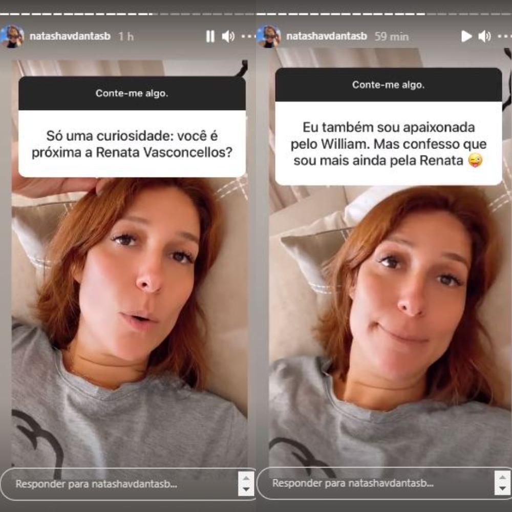 Natasha Dantas respondeu dúvidas sobre Renata Vasconcellos (Foto: Reprodução/Instagram)