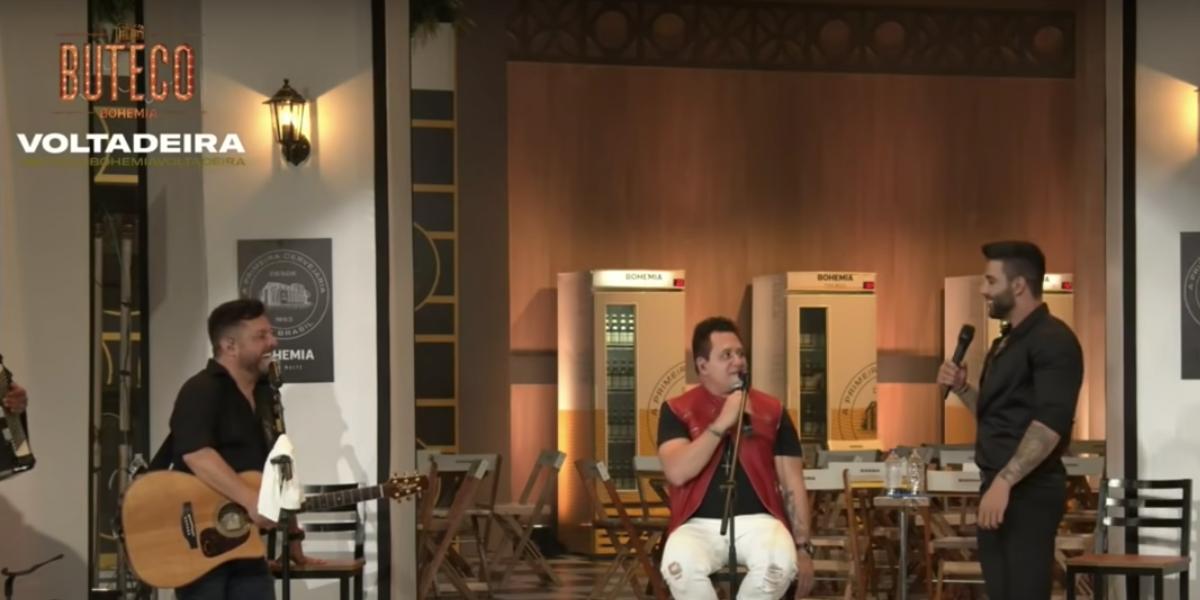Gusttavo Lima participa de live com Bruno e Marrone (Reprodução)