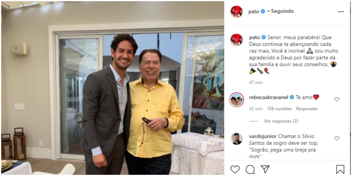 Pato usou as redes sociais para expor uma declaração para Silvio Santos (Foto: Reprodução)