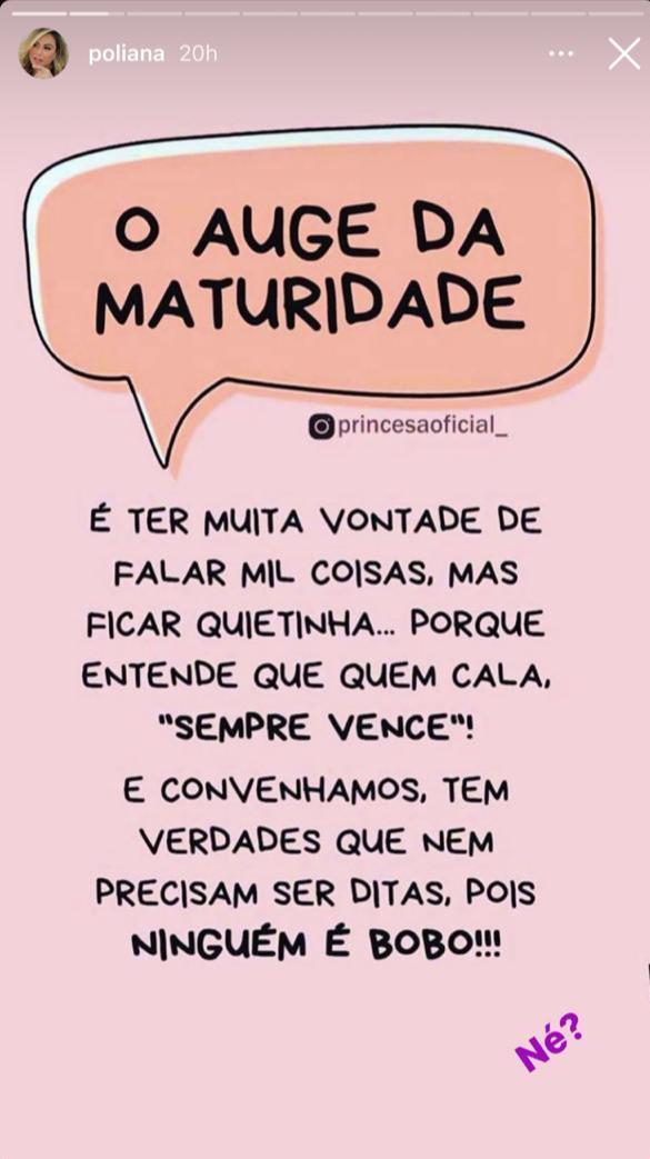 Poliana Rocha compartilha texto sobre maturidade (Foto: Reprodução)