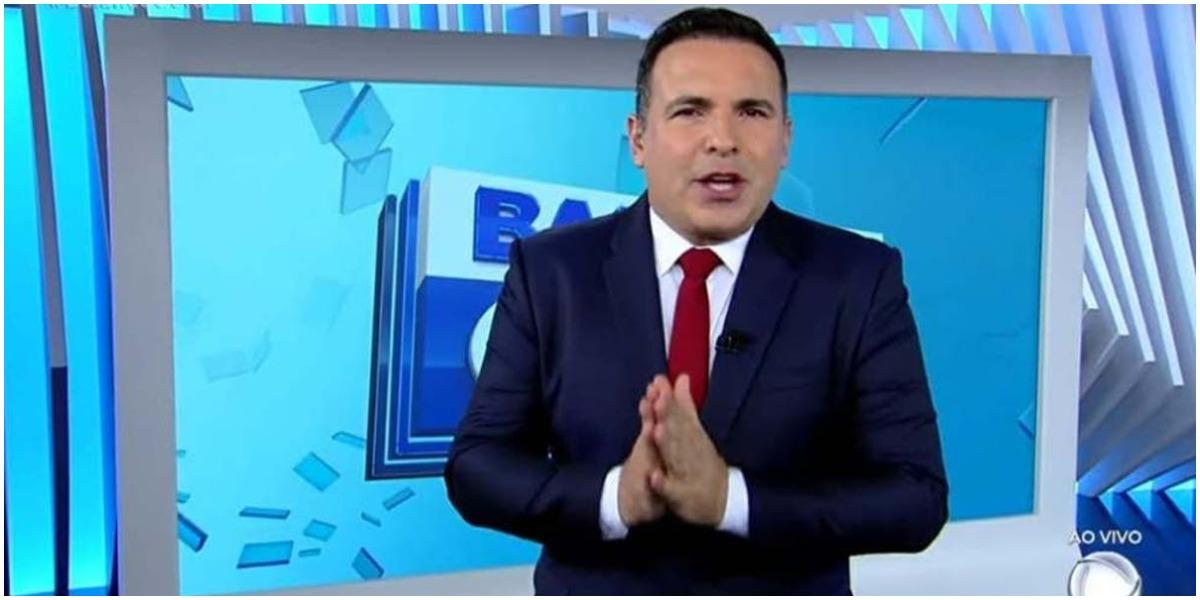 O apresentador da Record, Reinaldo Gottino - Foto: Reprodução