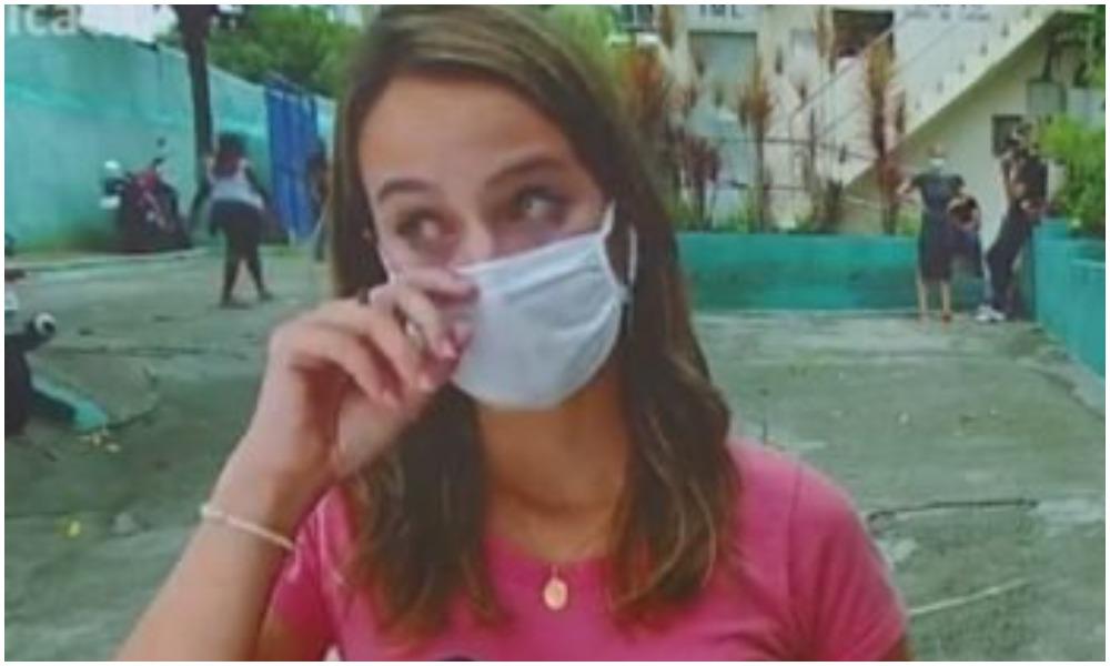 Repórter da Globo chora após noticiar morte de duas crianças (Foto: Reprodução)