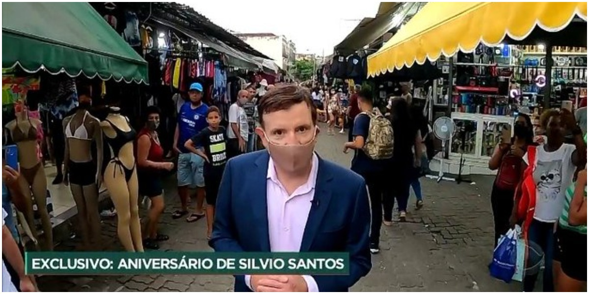 O jornalista Roberto Cabrini falou sobre Silvio Santos e explodiu em audiência - Foto: Reprodução