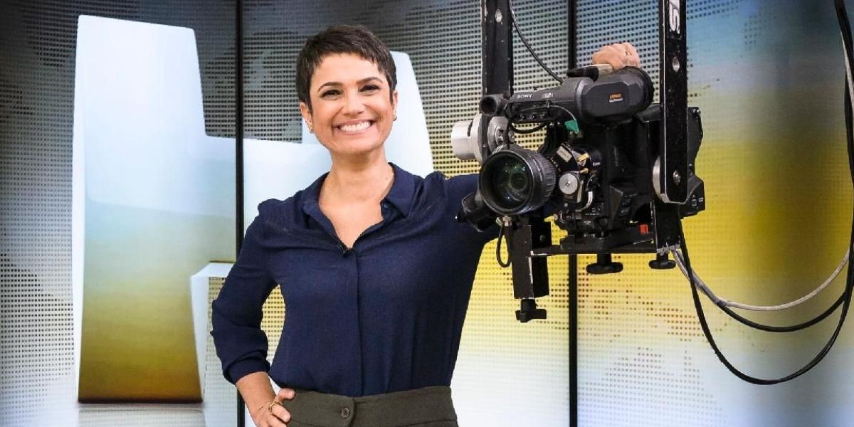 """Sandra Annenberg era âncora do """"Jornal Hoje"""" (Foto: Divulgação/TV Globo)"""