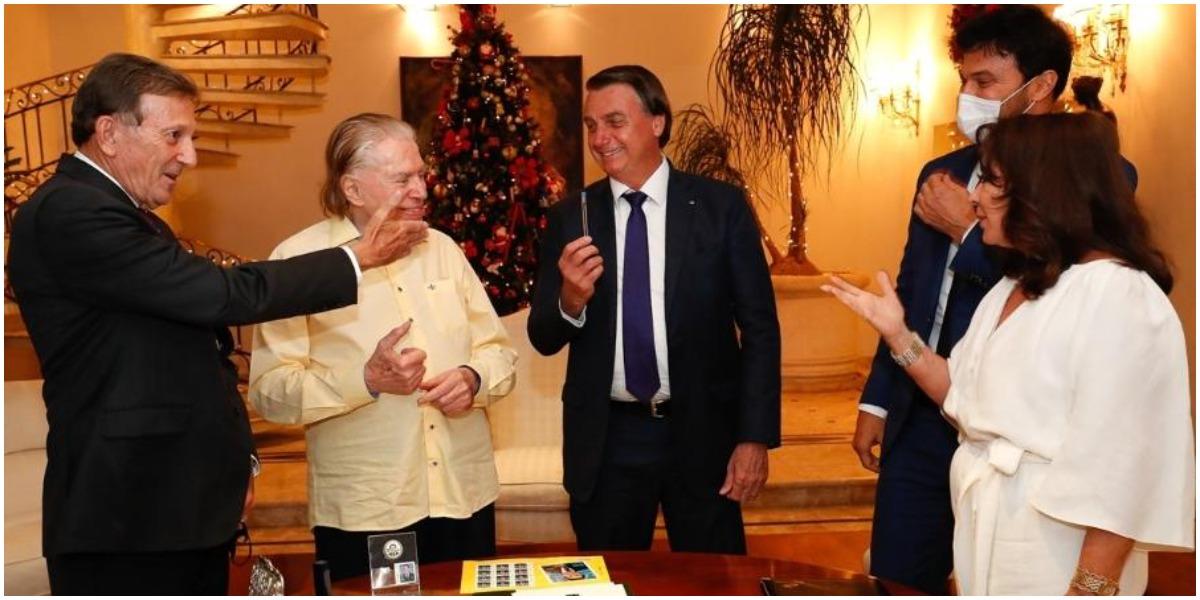 O apresentador Silvio Santos teve encontro com Bolsonaro - Foto: Reprodução
