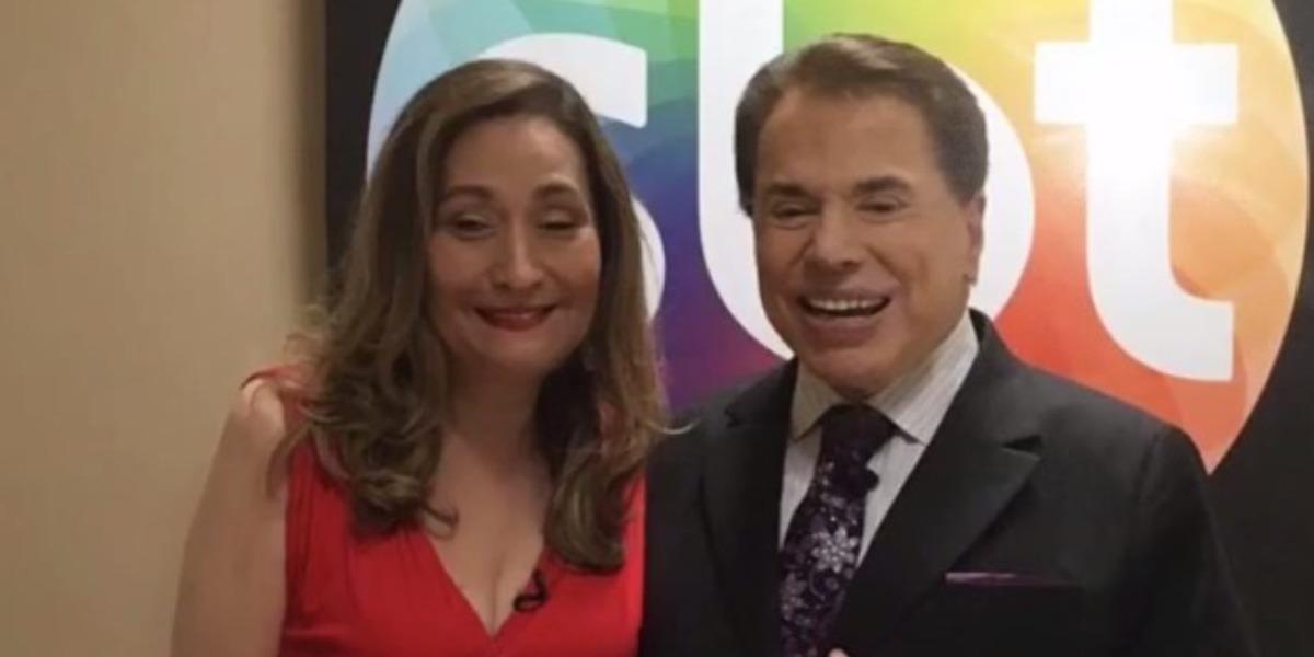 Sonia Abrão e Silvio Santos (Foto: Reprodução/SBT)