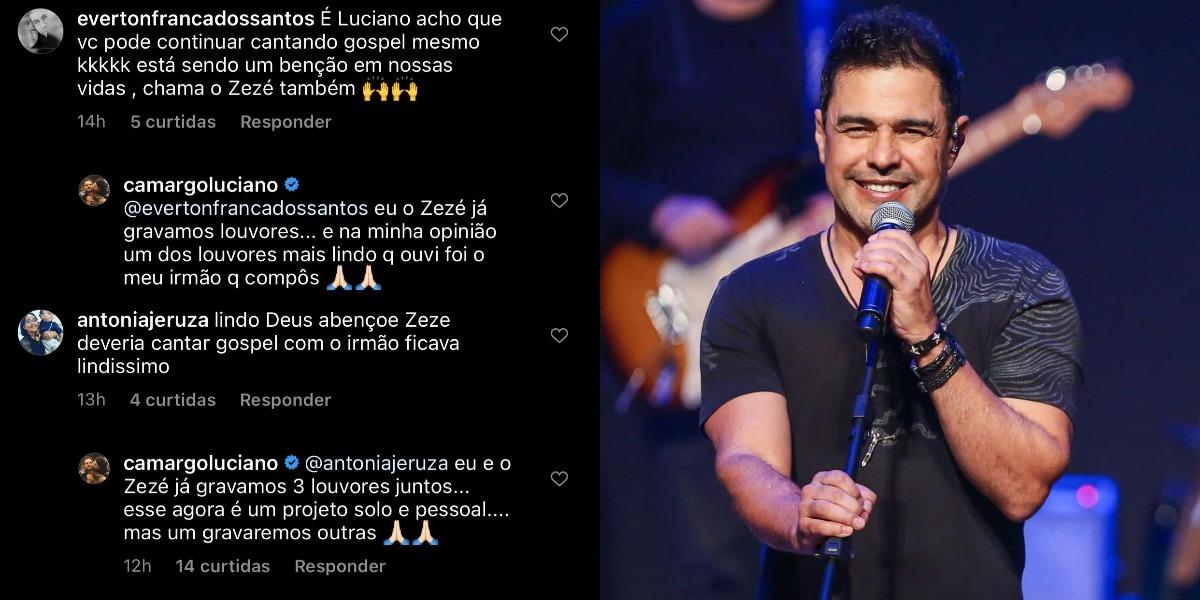 Resposta de Luciano sobre Zezé (Foto: Reprodução/Instagram)