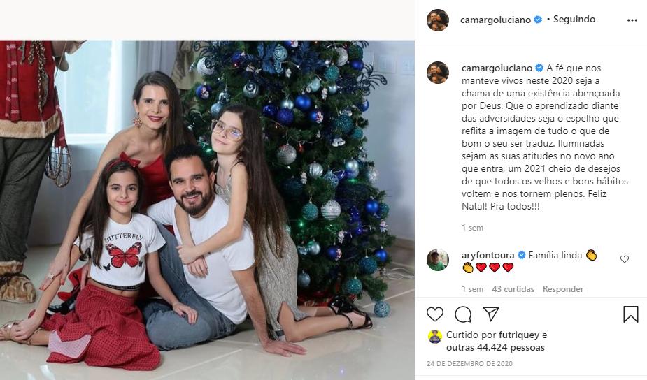Luciano fez comunicado em família