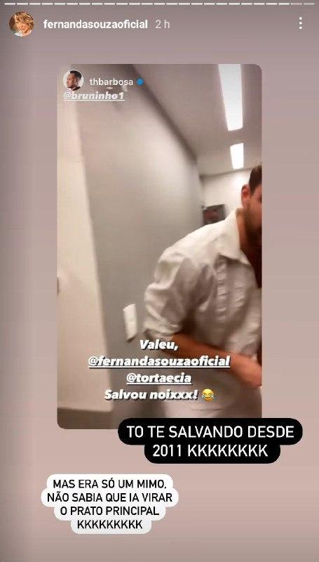 Fernanda Souza mandou um recado para Thiaguinho (Foto: Reprodução)