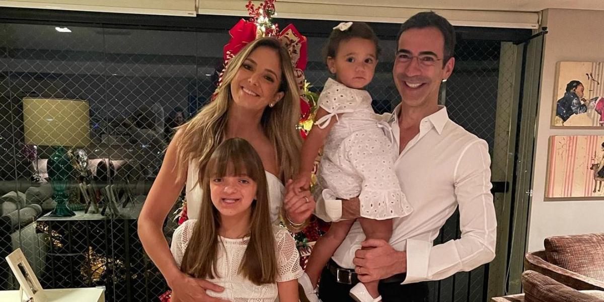 Ticiane Pinheiro, César Tralli, Rafa e Manuella (Reprodução)
