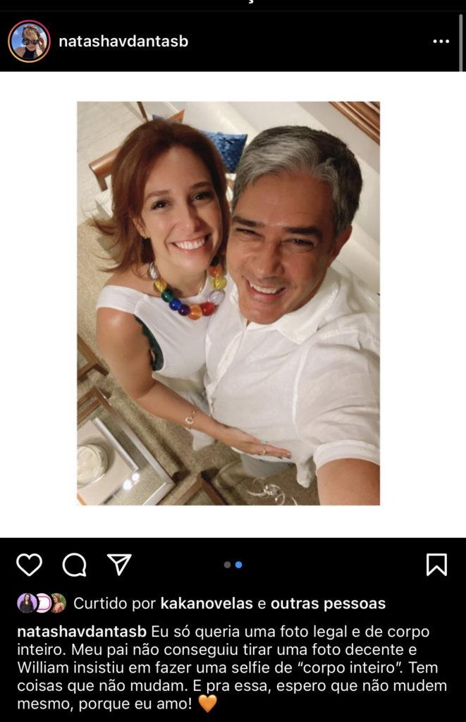 William Bonner passou as festas com a esposa e o pai dela (Foto reprodução Instagram)