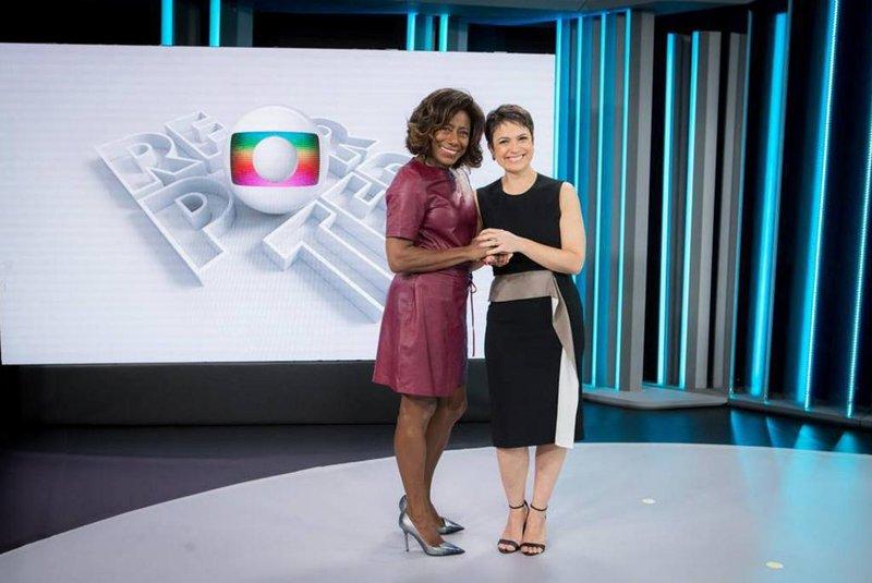 Sandra Annenberg apresenta o Globo Repórter ao lado de Glória Maria (Foto: Divulgação/Globo)
