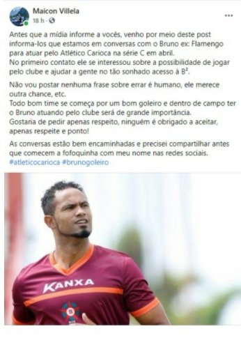 Goleiro Bruno negocia com clube carioca