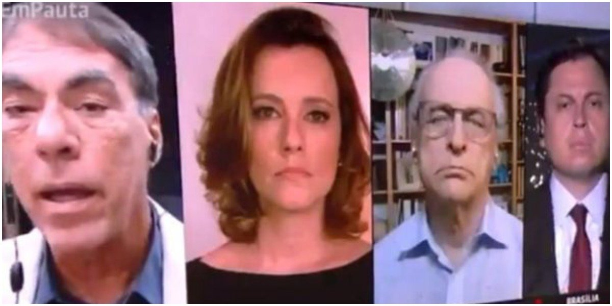Jornalistas da GloboNews discutiram ao vivo (Foto: Reprodução)