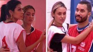 Kerline fez dupla com Pocah na prova, enquanto Gilberto formou dupla com Sarah (Foto: Montagem/TV Foco)