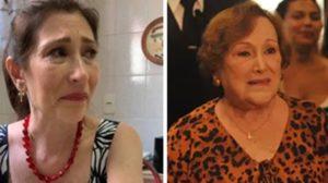 Beth Goulart surgiu aos prantos lamentando a morte da mãe (Foto: Reprodução)