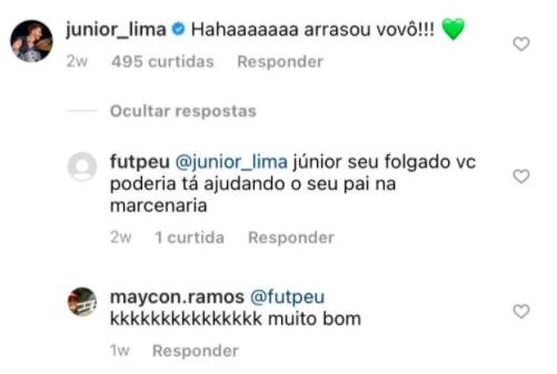 Junior é humilhado nas redes sociais (Reprodução)