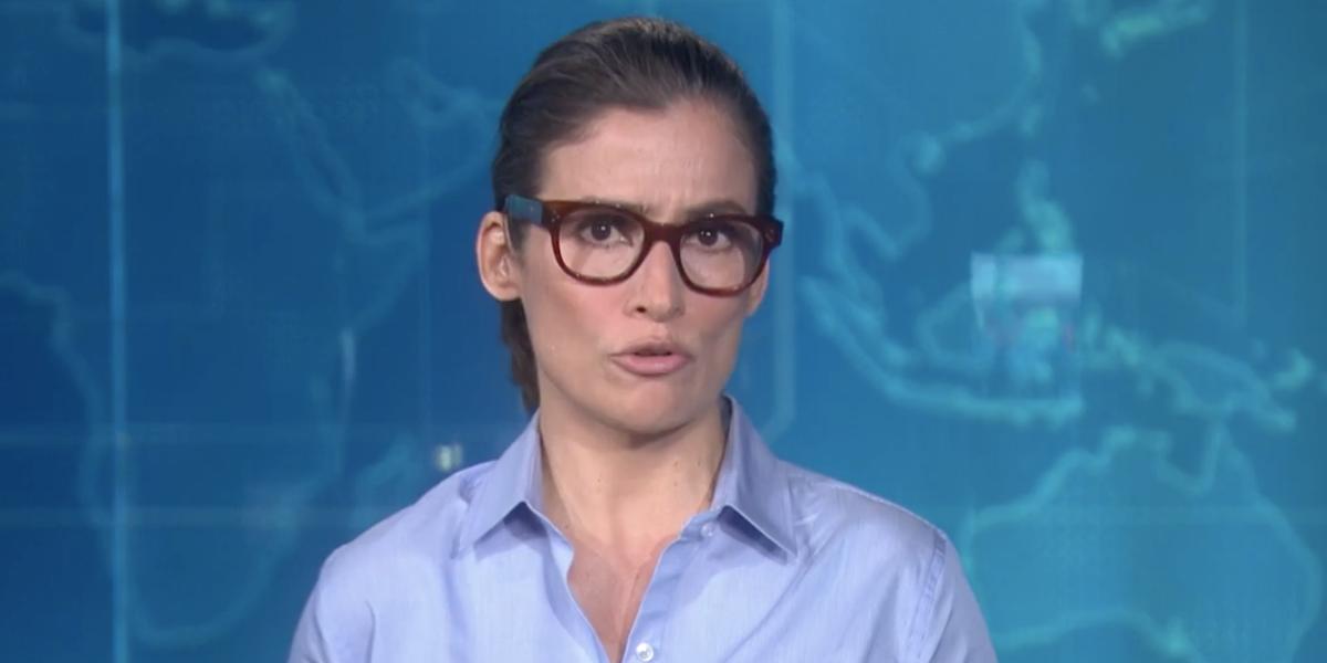 Renata Vasconcellos anuncia situação dos Estados Unidos (Reprodução)