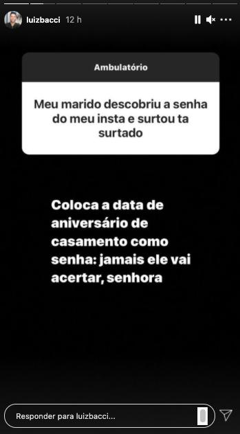 Luiz Bacci detona em comentários no Instagram (Reprodução)