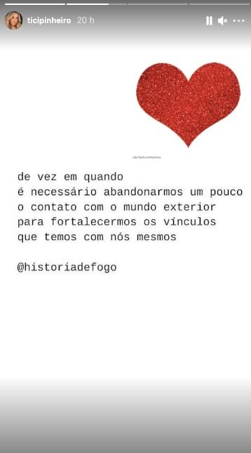 Ticiane Pinheiro desabafa sobre relação (Reprodução)