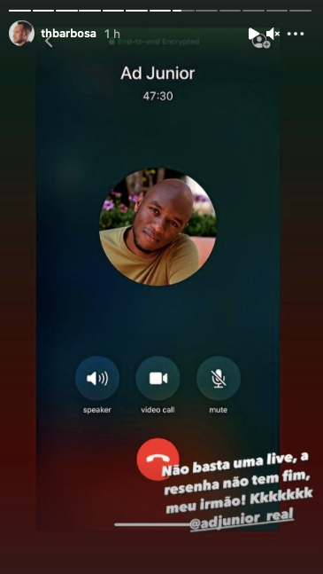 Thiaguinho expõe conversa por ligação com amigo nas redes sociais (Reprodução)