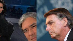 Bonner e Vasconcellos falam sobre queda de Bolsonaro e Bonner vai trabalhar de calça jeans