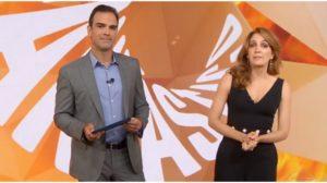 Tadeu e Poliana comandam o Fantástico na Globo - Foto: Reprodução