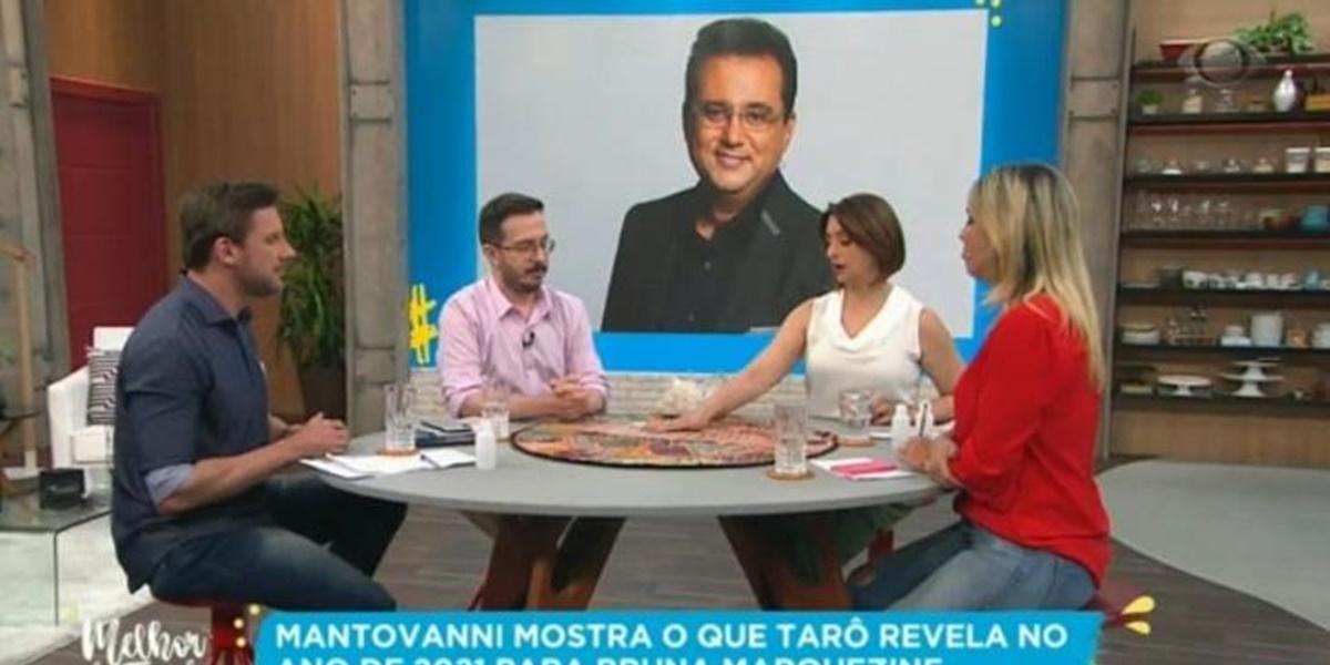 Geraldo Luís teve previsão realizada no programa de Catia Fonseca na Band (Foto: Reprodução)