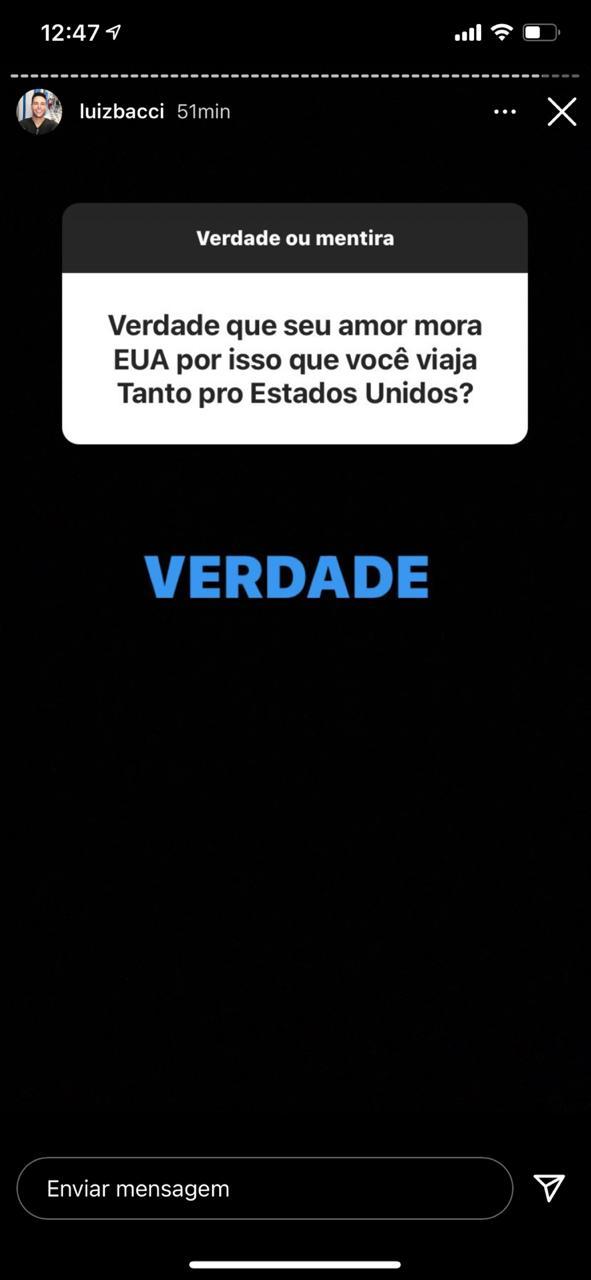 Luiz Bacci se divertiu nas redes sociais (Foto: Reprodução/Instagram)