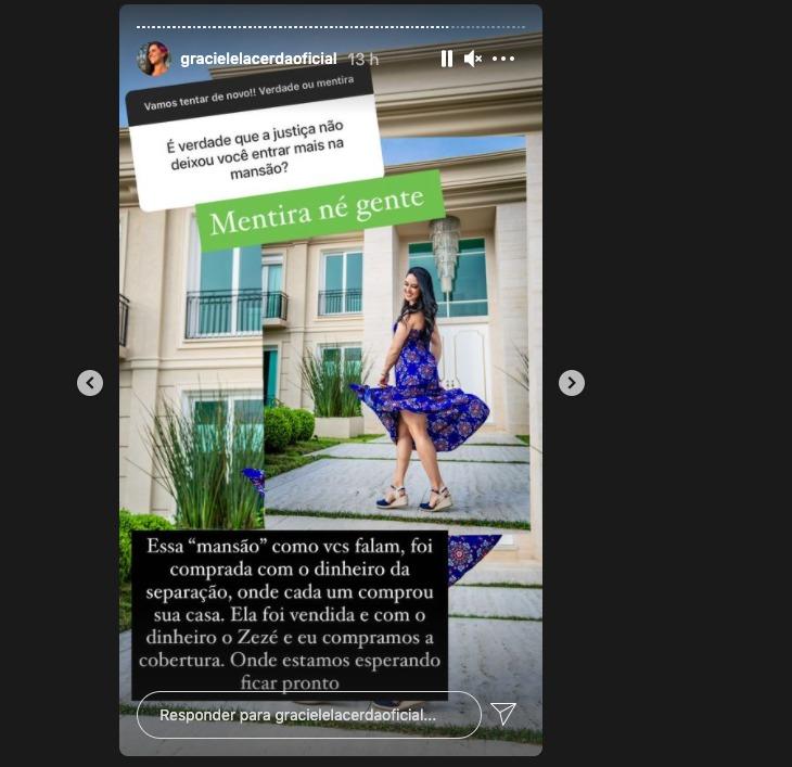 Print do Instagram de Graciele Lacerda (Foto: Reprodução)