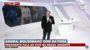 Datena ao vivo durante o Brasil Urgente (Foto: Divulgação)