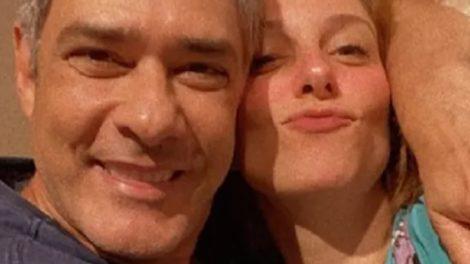 William Bonner ao lado da esposa Natasha Dantas (Foto: Reprodução)