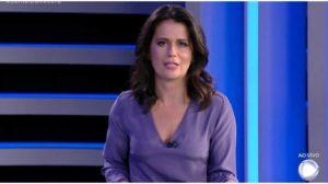 Adriana Araújo comandava o Jornal da Record - Foto: Reprodução
