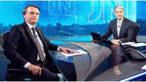 Bolsonaro e William Bonner no Jornal Nacional - Foto: Reprodução