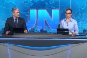 """William Bonner e Renata Vasconcellos sofreram com audiência do """"Jornal Nacional"""" (Foto: Reprodução/TV Globo)"""