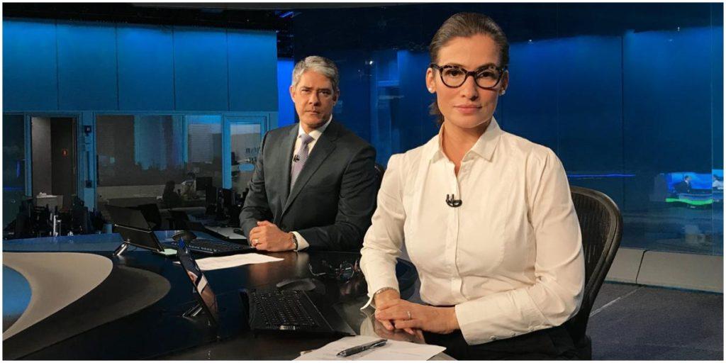 Bonner e Renata comandam o Jornal Nacional - Foto: Reprodução