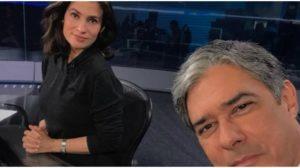 William Bonner e Renata Vasconcellos no Jornal Nacional - Foto: Reprodução