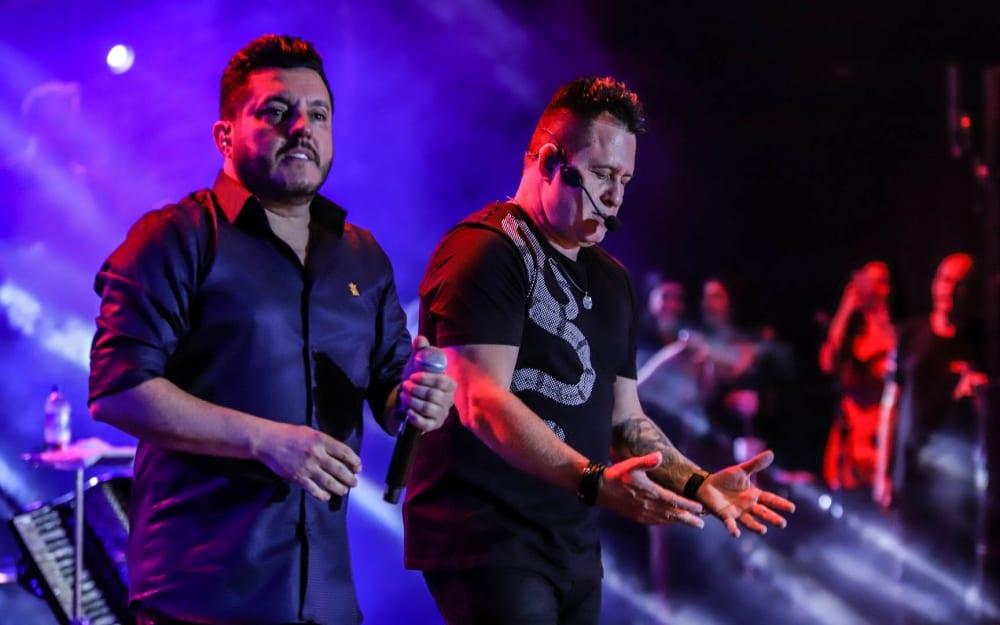 Bruno e Marrone fizeram live de réveillon (Foto: Reprodução)