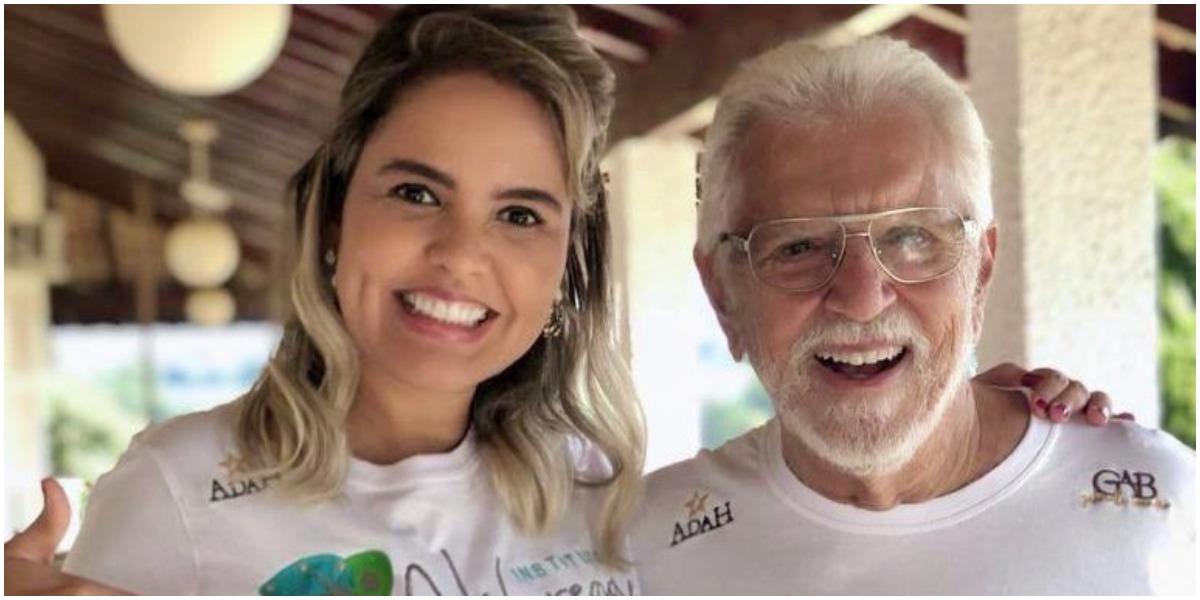 Carlos Alberto de Nóbrega ao lado da esposa, Renata (Foto: Reprodução)
