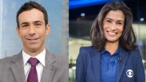 Cesar Tralli e Renata Vasconcellos (Foto: Divulgação/TV Globo)