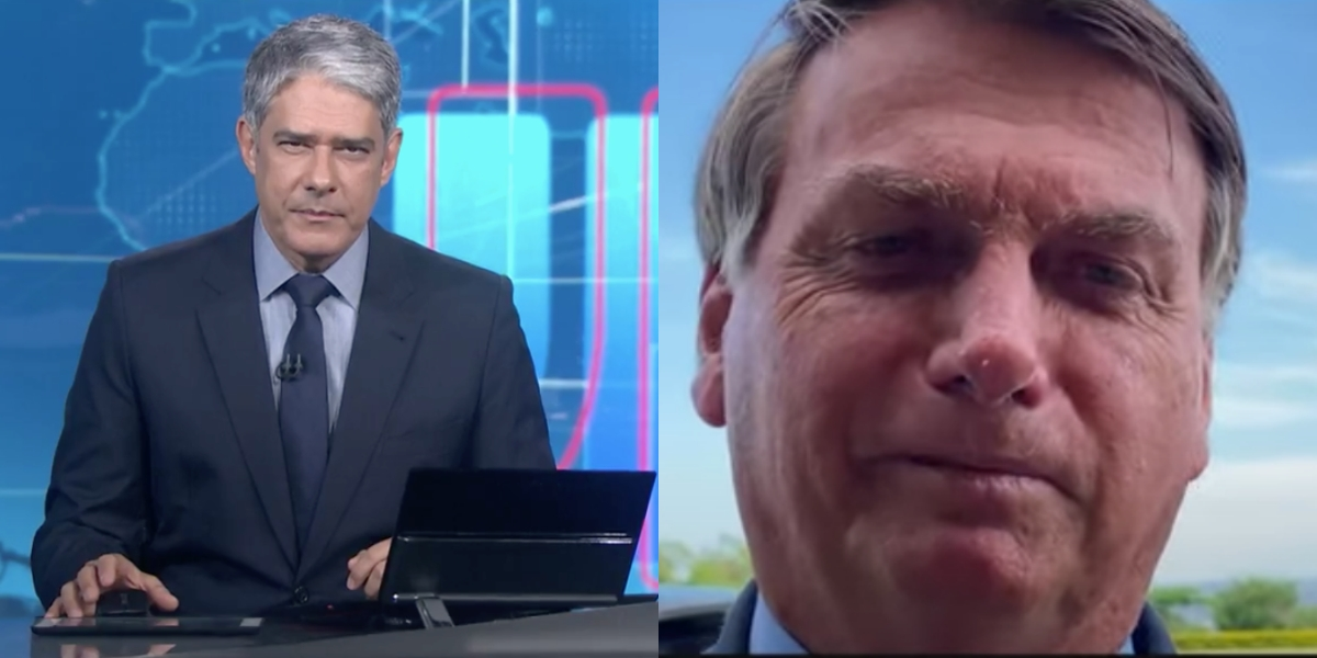 William Bonner e Jair Bolsonaro se atacam (Reprodução)