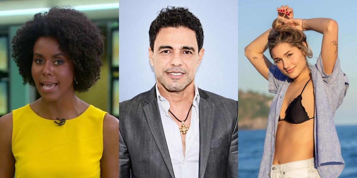 Maju Coutinho, Zezé di Camargo (Foto: Christian Gaul) e Sasha Meneghel - Foto: Montagem TV Foco