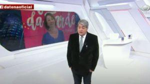 """Datena e Catia Fonseca no """"Brasil Urgente"""" (Foto: Reprodução/Band)"""