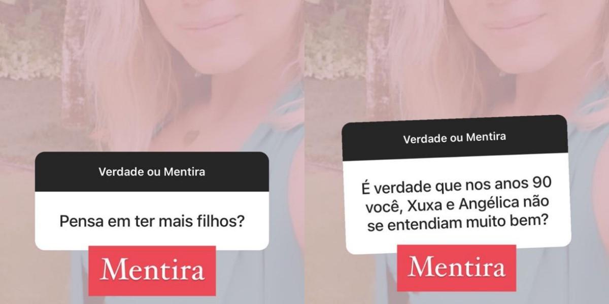 Eliana no Verdade x Mentira (Foto: Reprodução/Instagram)