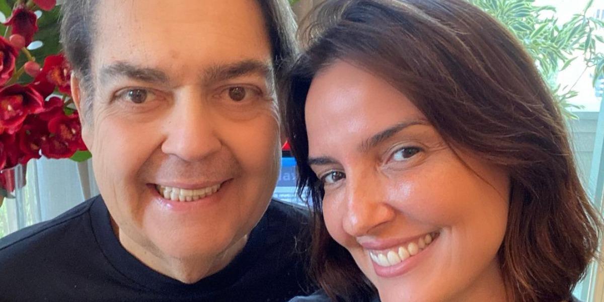 Faustão e Luciana Cardoso em primeiro clique de 2021 (Foto: Reprodução/Instagram)