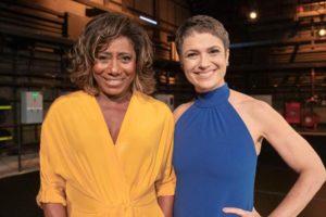 """Glória Maria e Sandra Annenberg na """"Retrospectiva 2020"""" (Foto: Divulgação/TV Globo)"""