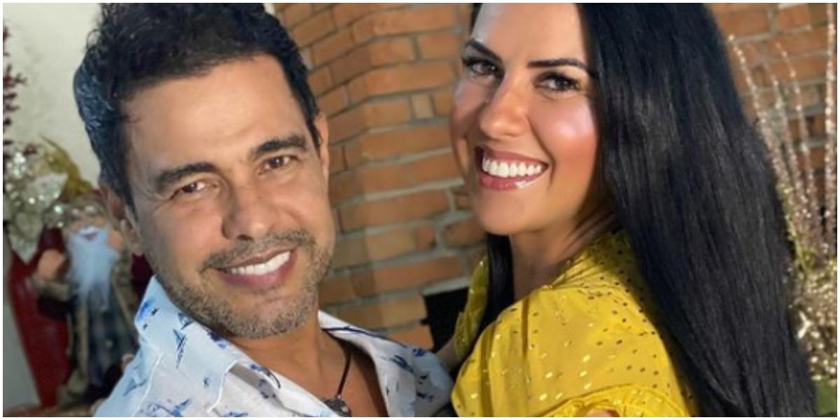 Graciele Lacerda ao lado de Zezé Di Camargo, seu noivo (Foto: Reprodução/ Instagram)