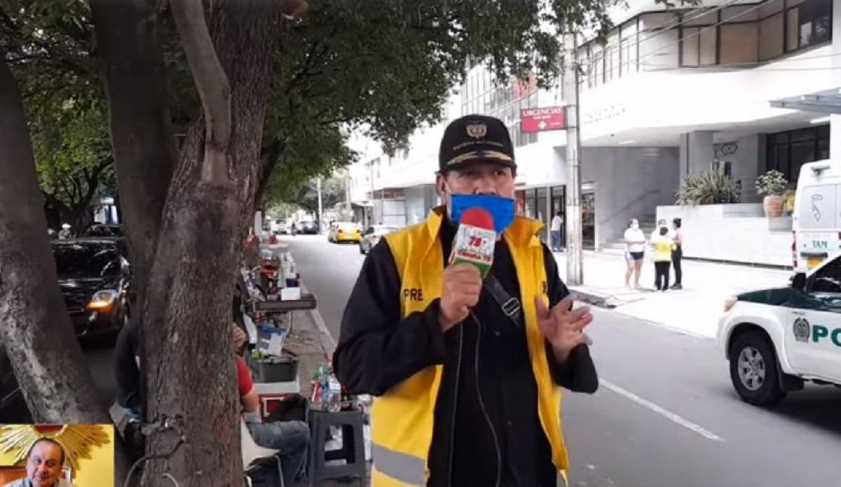 Jornalista sofreu baque ao vivo (Foto: Reprodução) esposa